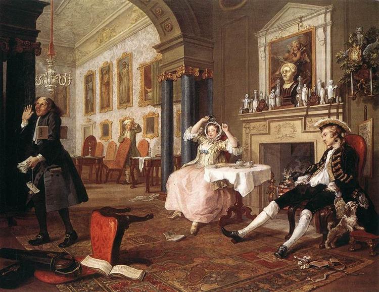 The Tete-a-Tete, 1743 - William Hogarth