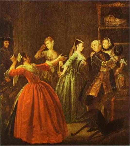 The Theft of a Watch, c.1731 - Уильям Хогарт