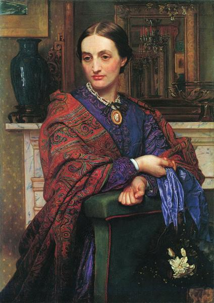 Portrait of Fanny Holman Hunt, 1866 - 1868 - William Holman Hunt