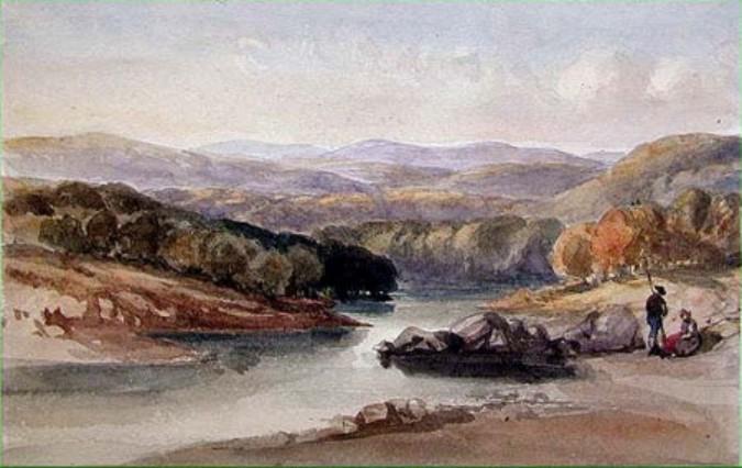 A River Landscape, possibly Near the Lago Maggiore - William Leighton Leitch