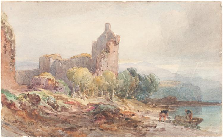 A Ruined Castle on a Lake, 1881 - William Leighton Leitch