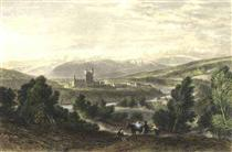 Balmoral castle, drawn by Leitch, engraved by J. Godfrey - Вільям Лейтон Лейтч