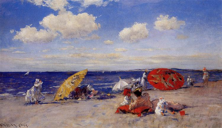 At the seaside - William Merritt Chase