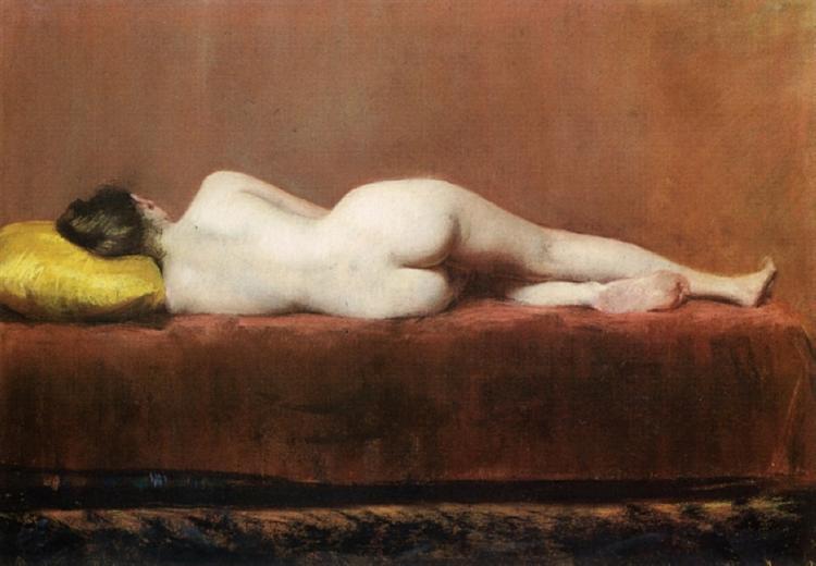Nude Recumbent, 1888 - William Merritt Chase