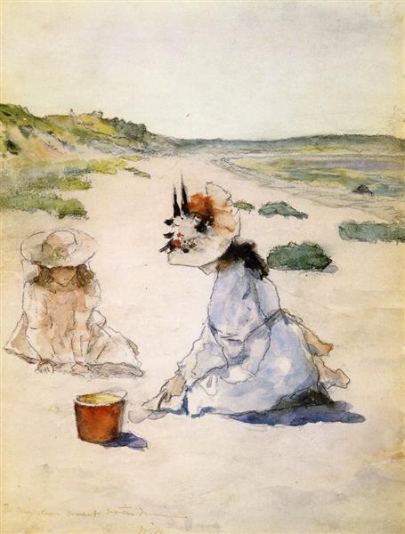 On the Beach, Shinnecock, 1895 - Вільям Меріт Чейз