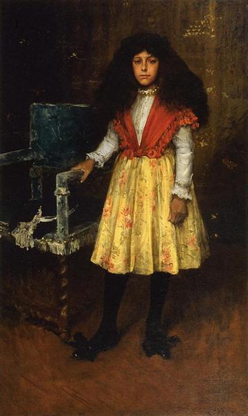 Portrait of Erla Howell (Little Miss H.), 1886 - William Merritt Chase