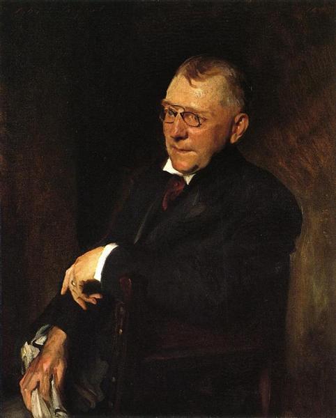 Portrait of James Whitcomb Riley, 1903 - William Merritt Chase