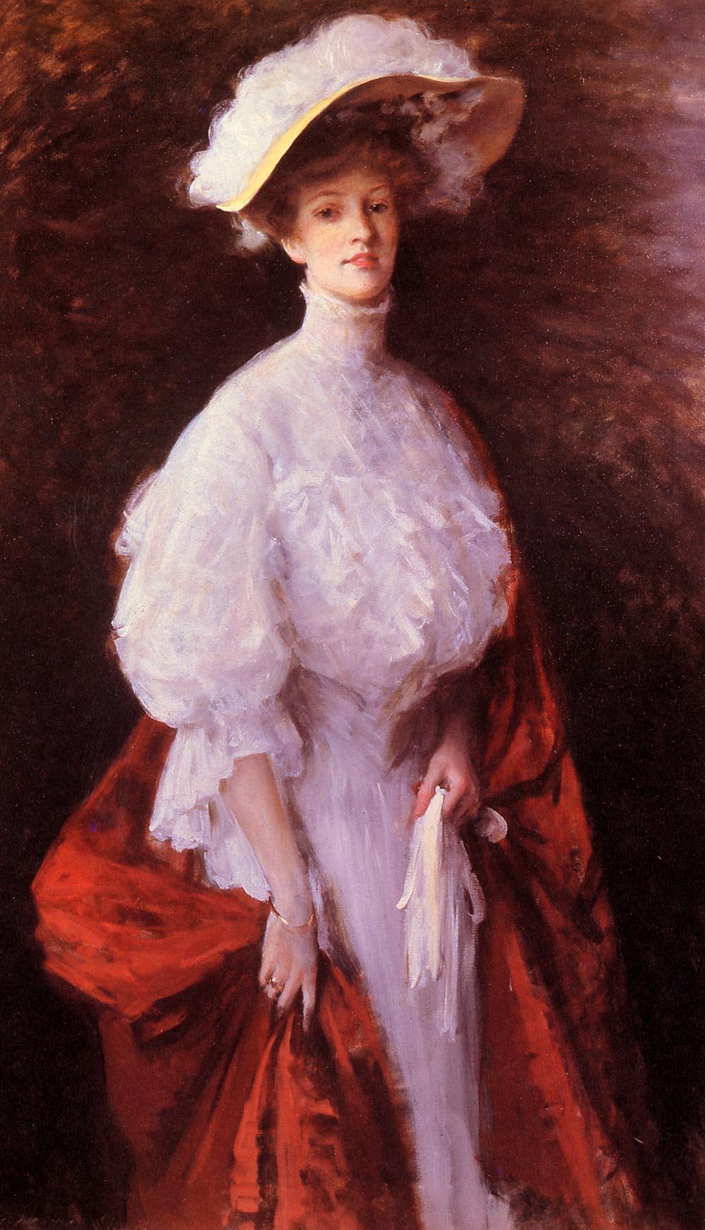 Portrait of Miss Frances - William Merritt Chase - WikiArt ...
