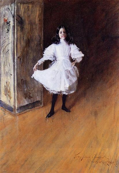 Portrait of the Artist's Daughter (Dorothy), c.1879 - William Merritt Chase