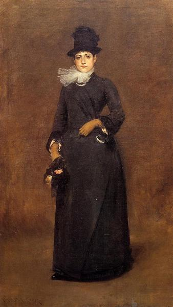 Ready for a Walk Beatrice Clough Bachmann, c.1885 - William Merritt Chase