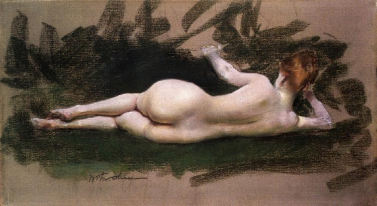 Reclining Nude, 1888 - William Merritt Chase