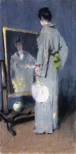 Study for Making Her Toilet, 1892 - William Merritt Chase