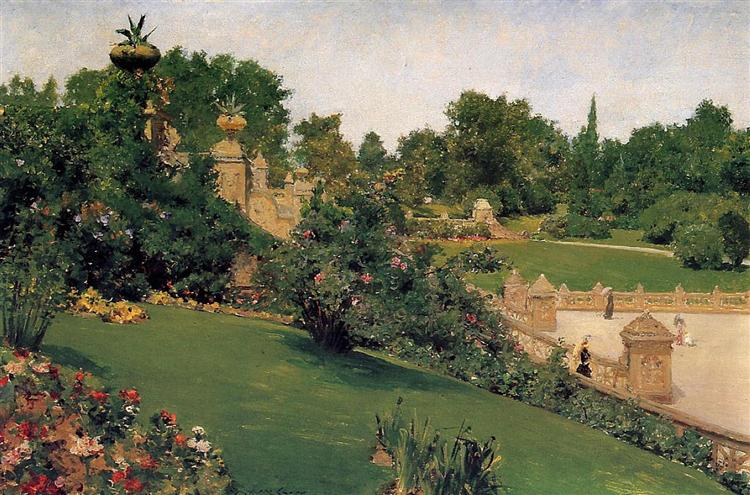 Terrace at the Mall, Cantral Park, 1890 - William Merritt Chase