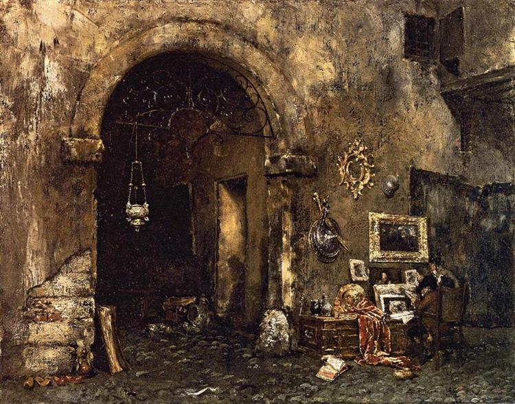 The Antiquary Shop, 1879 - William Merritt Chase