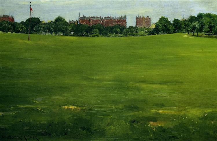 The Common, Central Park, 1889 - William Merritt Chase