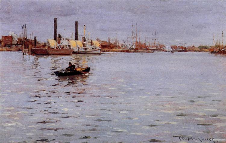 The East River, 1886 - William Merritt Chase