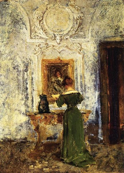 Woman in Green, 1909 - William Merritt Chase