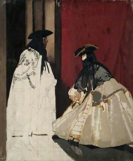 Masked Figures - William Orpen