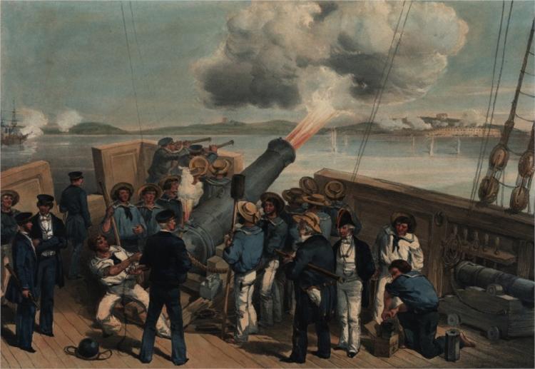 Bombardment of Bomarsund - William Simpson