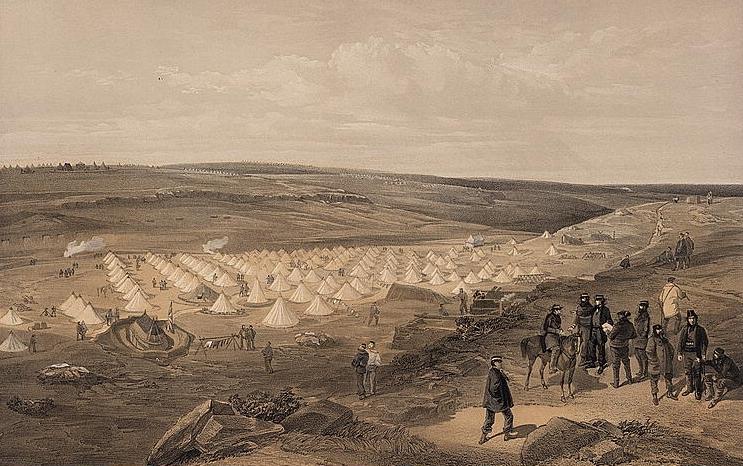 Camp of the naval brigade, before Sebastopol - William Simpson