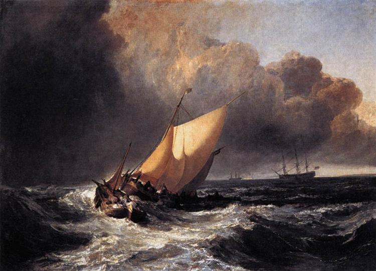 Dutch Boats in a Gale, 1801 - J.M.W. Turner