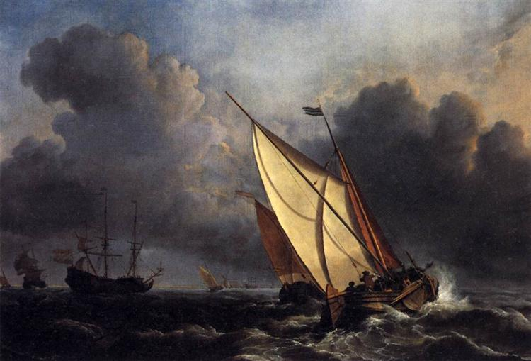 Dutch Fishing Boats in a Storm, 1801 - J.M.W. Turner