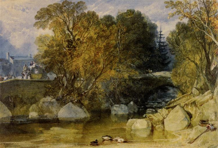 Ivy Bridge, Devonshire - J.M.W. Turner