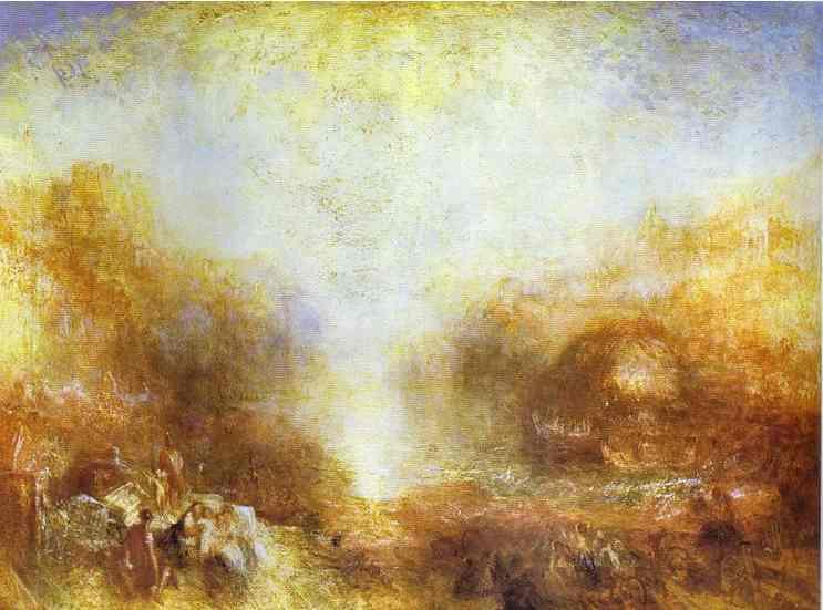 Mercury Sent to Admonish Aeneas, 1850 - J.M.W. Turner