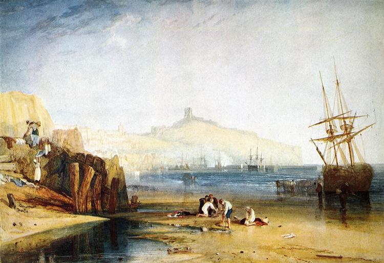 Scarborough Town and Castle. Morning.Boys Catching Crabs, 1811 - J.M.W. Turner