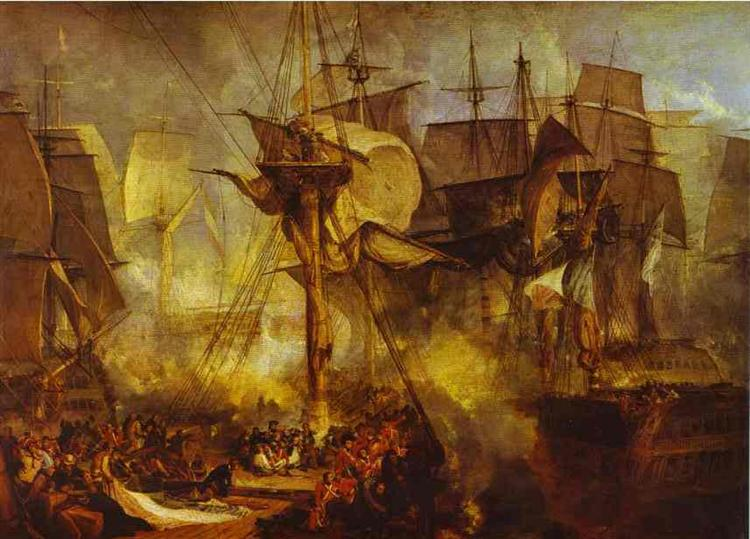 The Battle of Trafalgar, as Seen from the Mizen Starboard Shrouds of the Victory, 1806 - 1808 - J.M.W. Turner