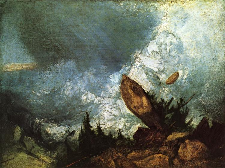 The Fall of an Avalanche in the Grisons, 1810 - Joseph Mallord William Turner