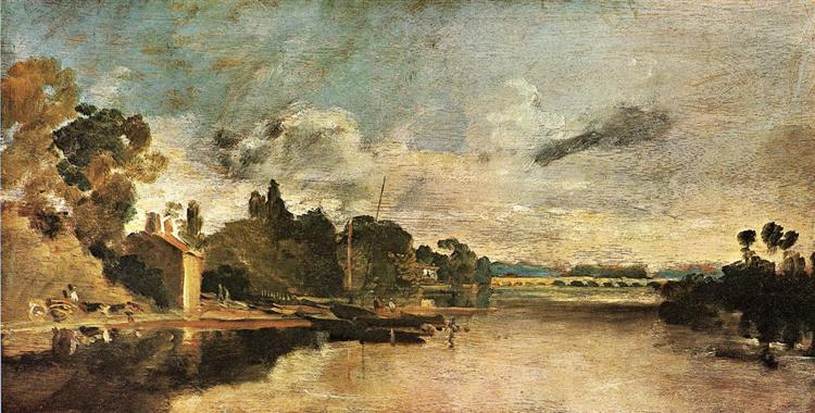 The Thames near Walton Bridges, c.1807 - William Turner