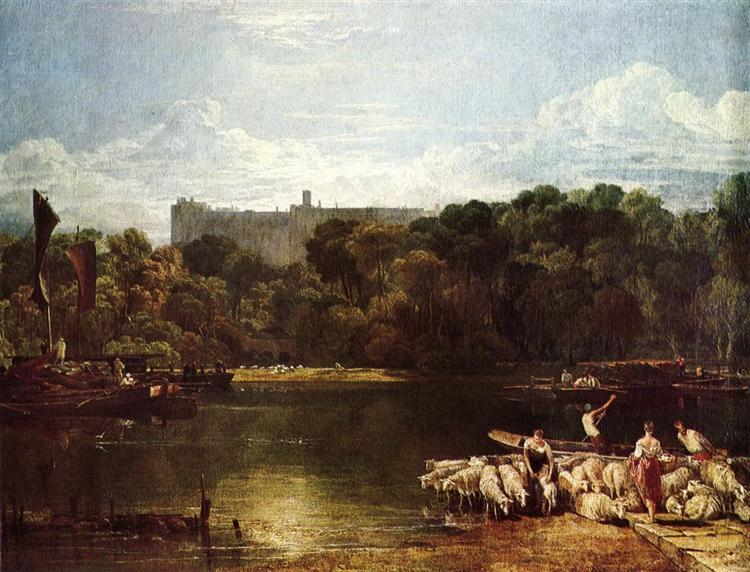 Windsor Castle from the Thames, c.1804 - c.1806 - J.M.W. Turner