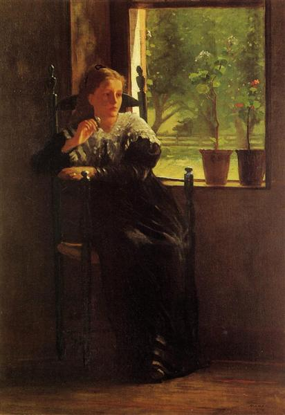 At the Window, 1872 - Winslow Homer