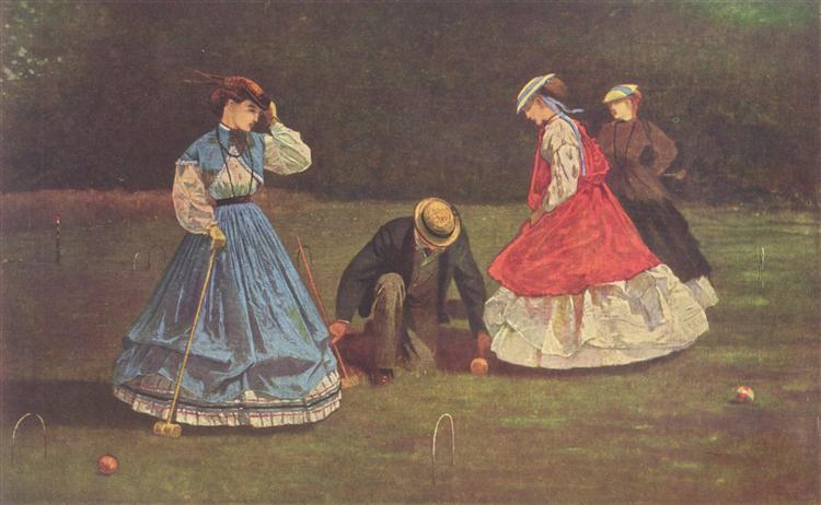 Croquet Scene, 1864 - Winslow Homer