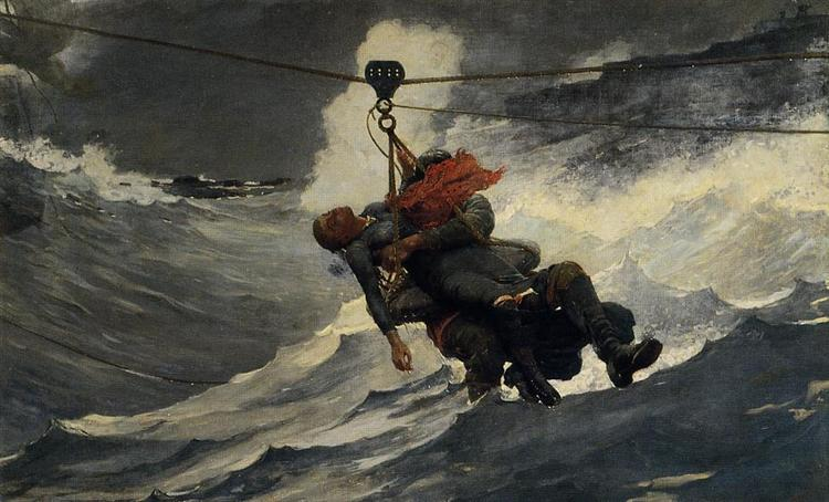 The Life Line, 1884 - Winslow Homer
