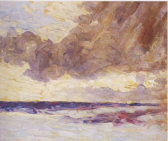 Seascape with Rain Clouds - Winston Churchill