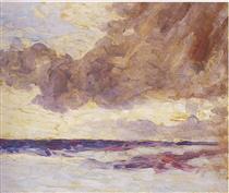 Seascape with Rain Clouds - Winston Churchill