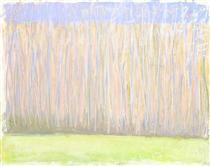 Pale Tree Row - Wolf Kahn