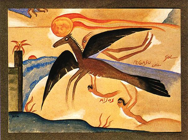 Pegaso de Sol, 1922 - Xul Solar