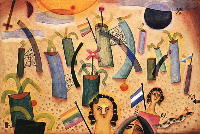 Soto Con Trio, 1930 - Xul Solar