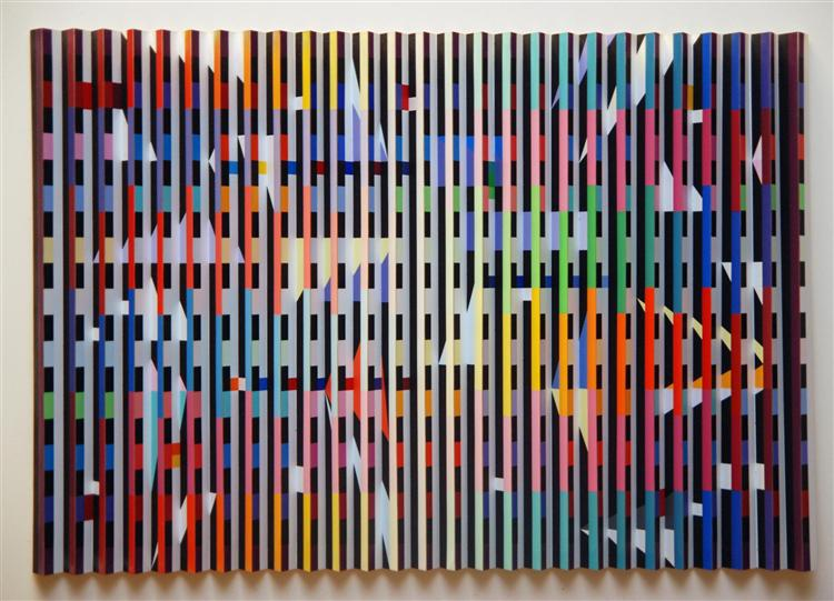 Untitled (polymorph serigraph), 1979 - Yaacov Agam