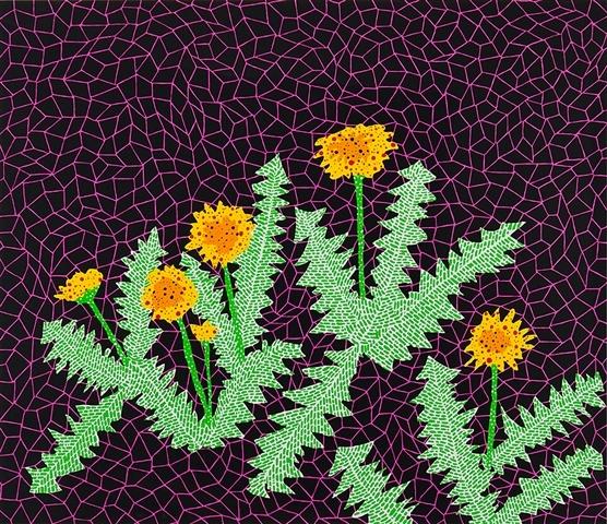 Dandelions, 1985 - Yayoi Kusama