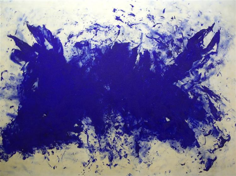 Great blue cannibalism, Tribute to Tennessee Williams - Yves Klein
