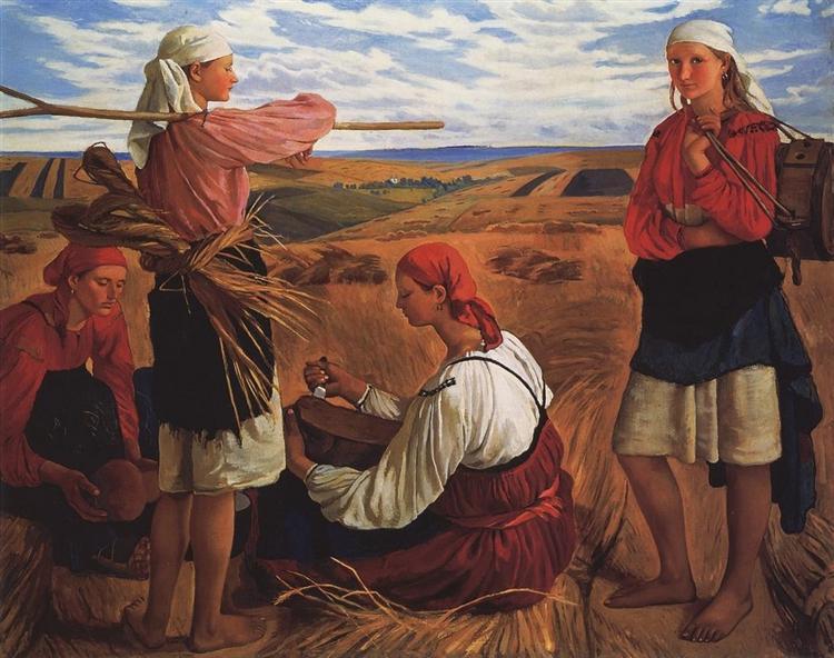 Harvesting, 1915 - Zinaida Serebriakova