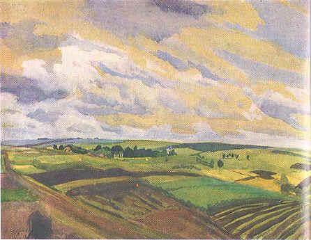 Landscape.Village Neskuchnoye, 1916 - Sinaida Jewgenjewna Serebrjakowa