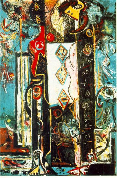 Male and Female, 1942 - Jackson Pollock