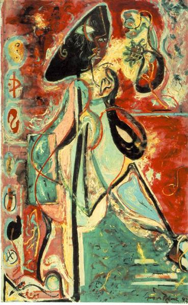 Moon Woman, 1942 - Jackson Pollock