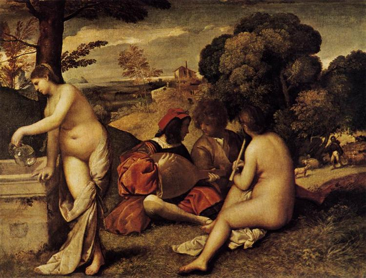 Pastoral Concert (Fête champêtre), 1508 - 1509 - Giorgione