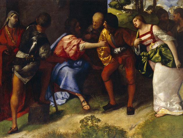 The Adulteress brought Before Christ - Giorgione